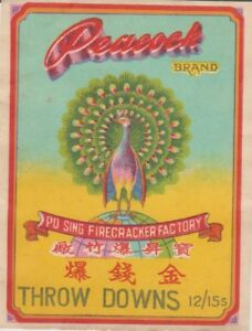 Peacock Brand Throw Downs Firecracker Pack Label