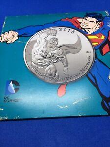 Canada $20 Dollars Fine Silver Coin, 1/4 OZ 2015 Superman DC Comics
