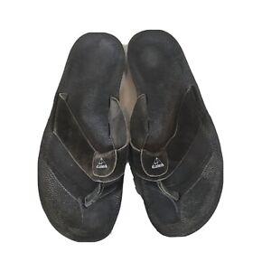 VTG Nike ACG Grind Thong Sandals Men's 14 Flip Flop Thongs Leather 190066 001