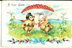 Easter postcard: Well-dressed Chicks