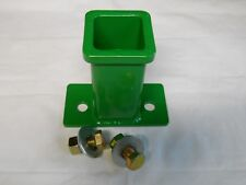 """CUSTOM 2"""" Receiver Hitch fits John Deere 110, 140, 210, 214, 314 and more Green"""