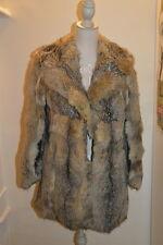 Pelliccia vintage anni 70 honey grey fur coat M vtg 70's