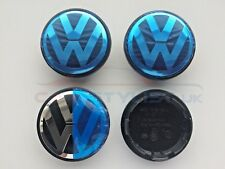 4x VW 65 mm Roue Alliage Centre Caps Golf Polo Scirocco Passat MK5 MK6 MK7