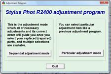 Reset Epson R2400 100% Epson R2400 Adjustment Program