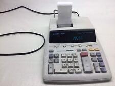 Sharp EL-2630P 12 Digit 2 Color Ribbon Printer Calculator