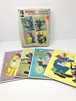 60s BOZO THE CLOWN 4 FRAME TRAY PUZZLES