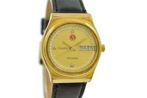 Vintage Rado Voyager Gold Plated Automatic Midsize Watch 457