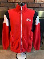 Vintage Nike Air Track Jacket Warmup Coat Mens Size Medium Red Black White EUC