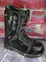 NEW SIMS OMEN SNOWBOARD BOOTS WOMENS SIZE 9 BLACK & PINK CAMO QUICK LACE NO TIE