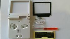 CARCASA COMPLETA+PANTALLA COMPATIBLE GAME BOY ADVANCE SP WHITE NEW/NUEVO