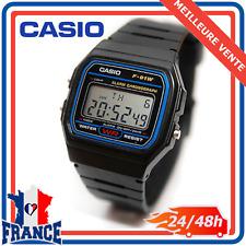 Montre Homme de Collection Casio Digitale Étanche Bracelet en Plastique F-91W-1