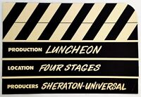 1960s Lunch Menu Sheraton Universal Hotel Four Stages Restaurant Universal City