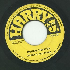 """"""" MUSICAL WEATHER."""" the harry j all stars. HARRY J 7in 1970."""