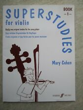 Superstudies Book 1 for Violin by Cohen *NEW* Publisher Faber