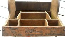 "Antique Oak Boye Needle Co Store Display Cabinet w/ advertising, 12x9x6"" RARE!!!"