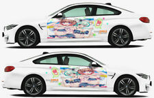 Anime bikini Girl Car Doors Graphics Decal Vinyl Sticker Fit any Car Both sides