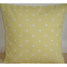 "NEW 20"" Cushion Cover Yellow and White Polka Dots Spots Baby Nursery Dotty Dot"