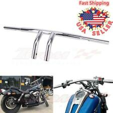 "Chrome 8"" Rise T-Bars Handlebar Drag Bar For Harley 96-17 Sportster Dyna Softail"