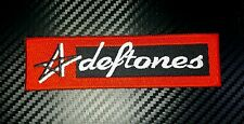 Deftones Music Rock Heavy Embroidered Patch Iron Sew Logo Hardcore Emblem Custom