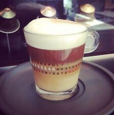 2 tasses nespresso en verres 6 cm serie special napoli trieste (80 ml) en verre