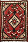 Vintage Geometric Oriental Traditional Area Rug Hand-knotted Wool Carpet 1x2 RED