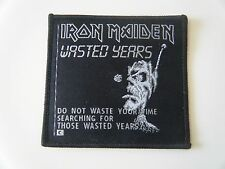 IRON MAIDEN PATCH WASTED YEARS SOMEWHERE IN TIME EDDIE HEAVY METAL BAND NEW