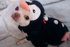 Cute Faux Fur Penguin Dog Coat Fancy Dress Xmas Halloween