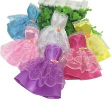 6 Colors Doll Skirt Clothes Dress Handmade Beautiful Hangers Lot for Barbie Nice