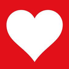 """ambiente Servilletas """"Corazón Rojo"""" 20 piezas,rojo,Corazón Blanco,3 Pliegues,33"""