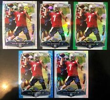 2014 Chrome #206 Zach Mettenberger Partial Rainbow Ref. RC Steelers (Lot Of 5)