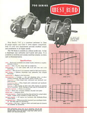 Vintage & Very Rare 1960 West Bend 700 Go-Kart Engine Specifications Sheet