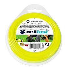 3.0mmx15m Cerchio Nylon Giardino Siepe Mano Erba Decespugliatore Tagliabordi Filo Ricarica