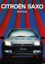 Citroen Saxo Desire 1.1i Limited Edition 1997 UK Market Sales Brochure 3-dr 5-dr