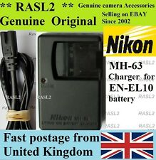 Genuine Original NIKON MH-63 Charger,EN-EL10,coolpix S500 S510 S520 S570 S600