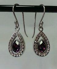 Sterling Silver 925 & Swarovsky Crystals Earrings NEW