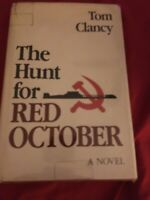 """""""The Hunt for Red October""""-Clancy-1984  SIGNED True 1st Ed, 1st Printing-With DJ"""