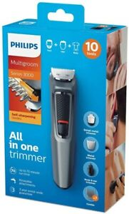 PHILIPS MG3747/33 Mens 10-in-1 Body Groomer Beard Trimmer Hair Clipper Nose Ear