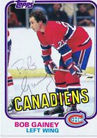 Bob Gainey 1981 Topps Autograph #13 Canadiens