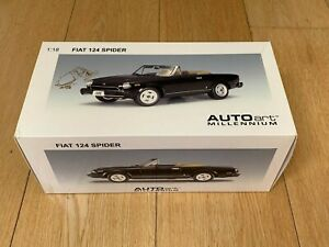 AUTOart Millenium FIAT 124 Spider 1:18 Scale Model VERY RARE