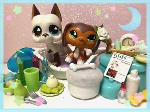 Authentic Littlest Pet Shop Dachshund #675 & Great Dane #577 LPS POPULAR w/ Lot✨