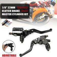 "Universal Motorcycle 7/8"" Beake Master Cylinder Clutch Lever Reservoir Kit"