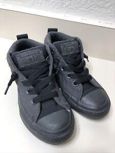 Pre School Size Converse Chuck Taylor All Star Street Mid Black/Black 658105F 12