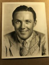 Frank Albertson Very Rare Early Original 8/10 Autographed Photo 30s Wonderful