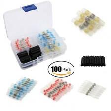 100PCS Solder Sleeve Heat Shrink Butt Waterproof AWG 26-10 Wire Splice Connector