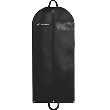"Garment Bag for Travel and Storage 54"" x 24"" - Hanging Black Suit Dress Carry On"