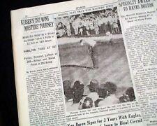 THE MASTERS TOURNAMENT Herman Keiser Wins Golf Major at Augusta 1946 Newspaper