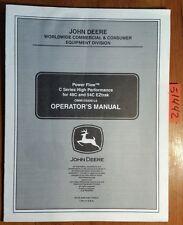 John Deere Power Flow C Series S/N 10001- for 48C 54C EZTrak Operator Manual '06