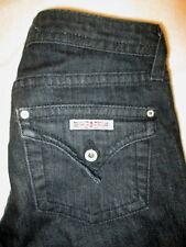 Hudson Stretch Flap Pockets Slim Straight Womens Black Jeans Sz 25 x 34 Mint USA