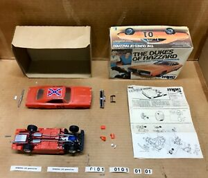 MPC #10661 1969 DODGE CHARGER DUKES OF HAZZARD 1:25 MODEL KIT OPEN/STARTED/PARTS
