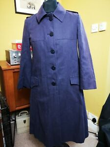 LADIES FRENCH CONNECTION TRENCH COAT JACKET BUTTON UP SIZE 6 24hr Post